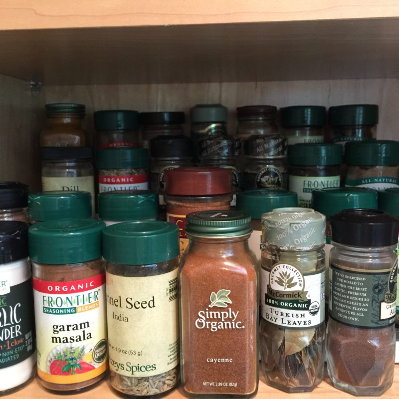 Clearing out the Spice Cabinet