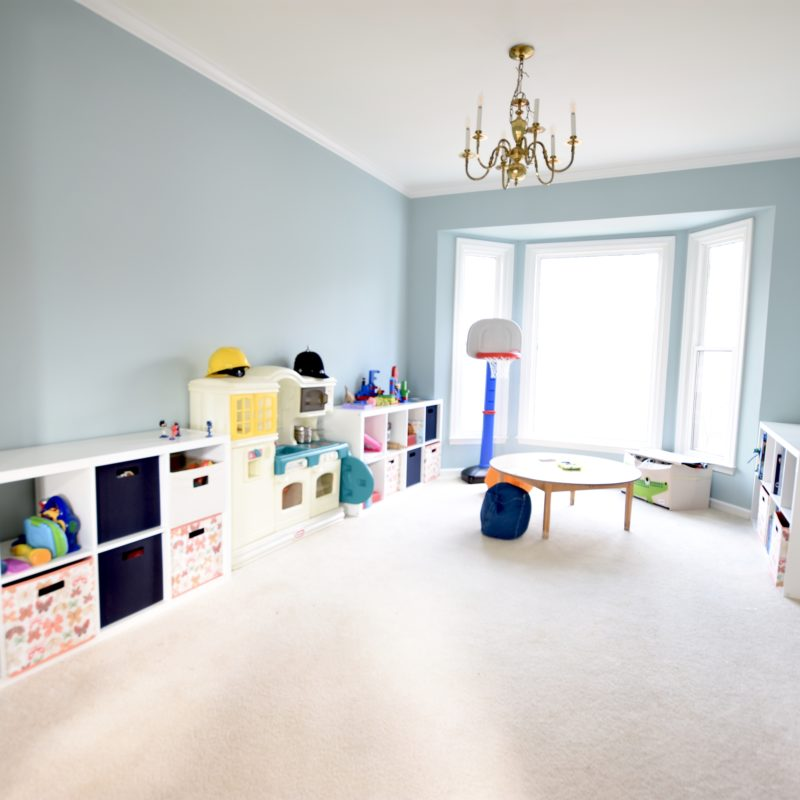 Before/After :: Dining Room to Playroom Conversion