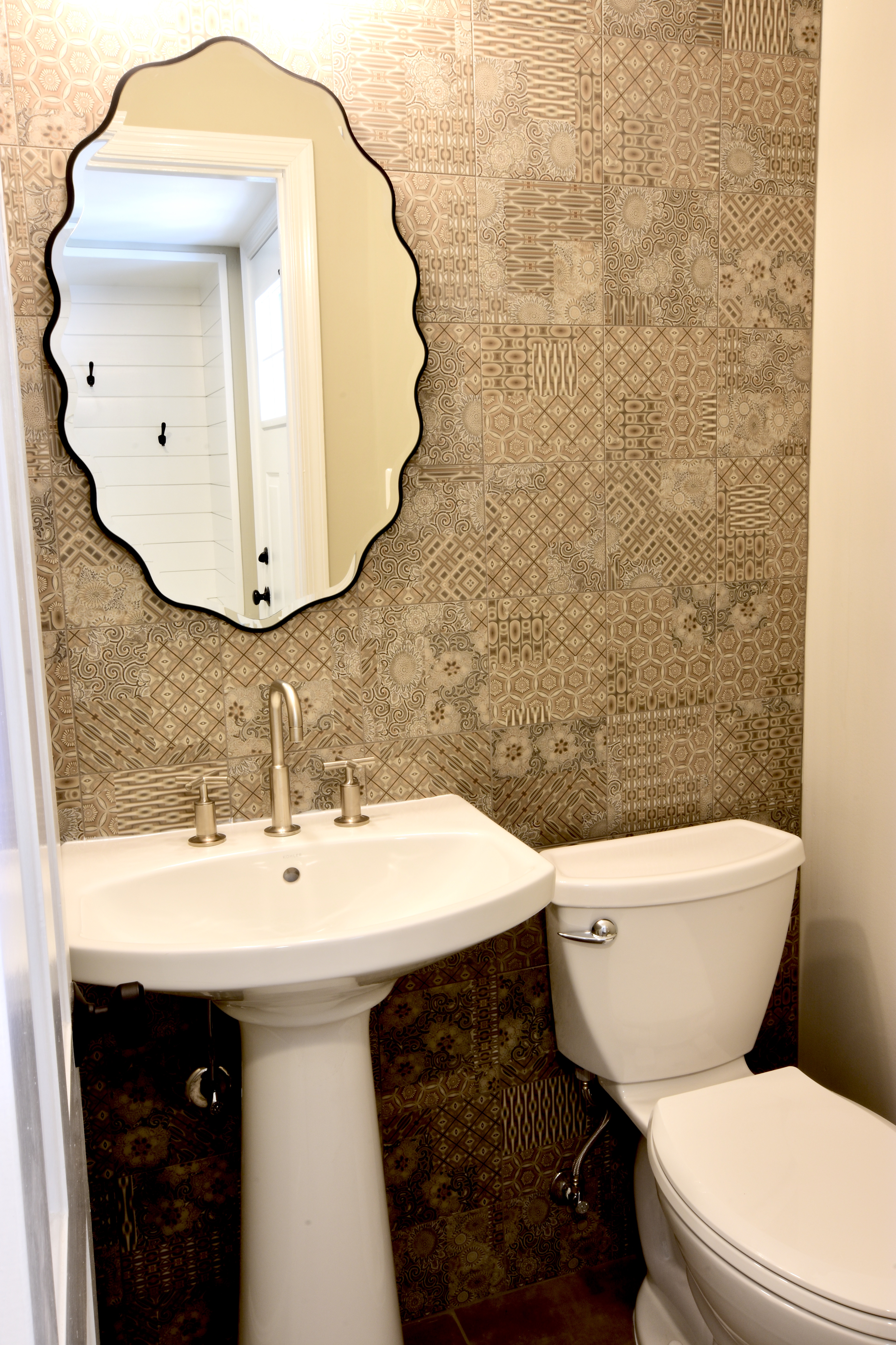 Before/After :: A Small Powder Room Packs A Punch