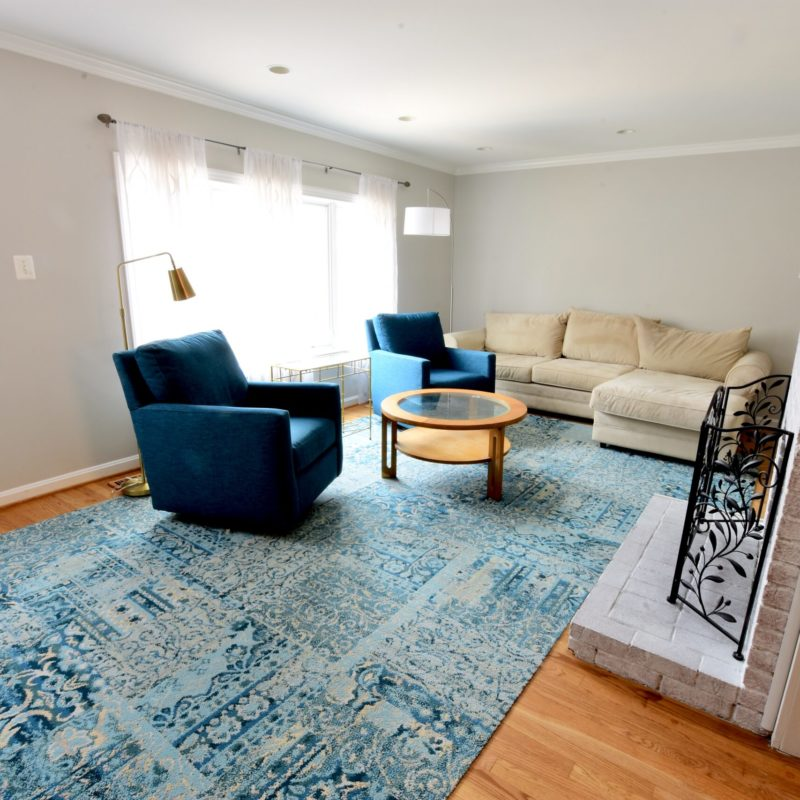 Before/After : Brightening A Living Room
