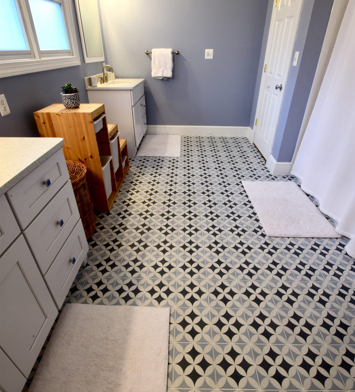 Before/After :: An Inspired Tile Choice Makes A Statement