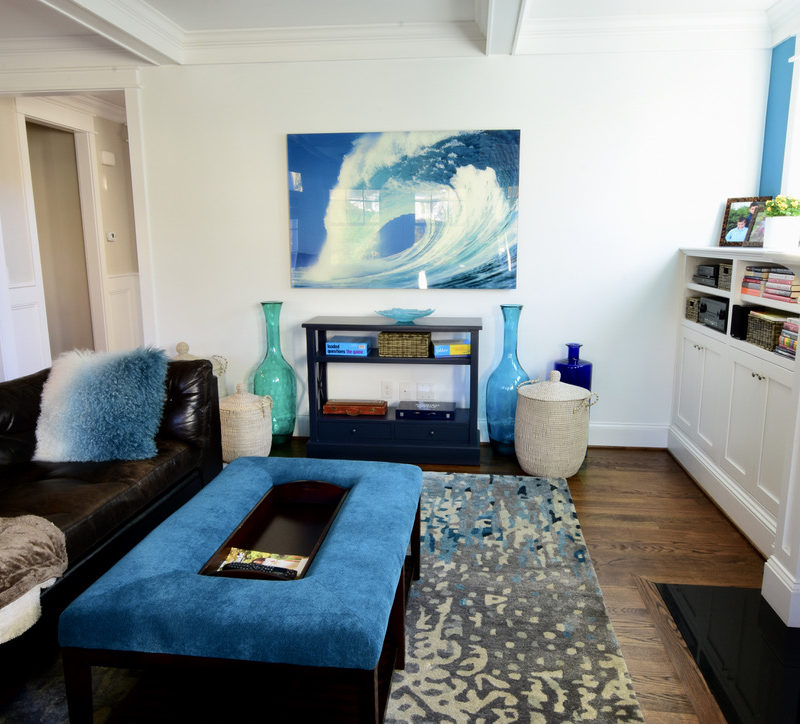 Before/After :: A Coastal Vibe in the Family Room